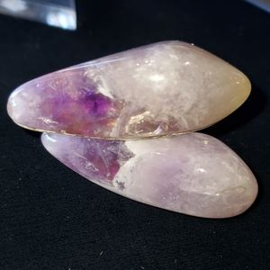 Vintage Huge Tumbled Amethyst Cufflinks